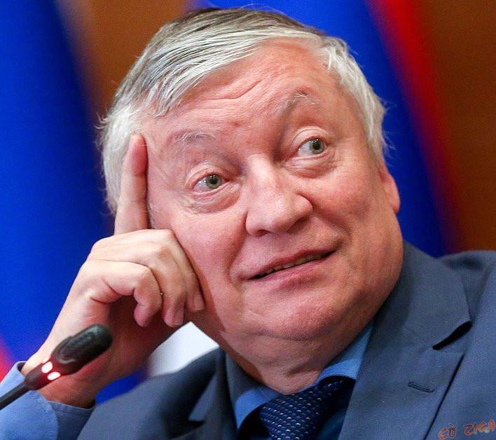 Chân dung kỳ thủ Anatoly Karpov năm ông 68 tuổi